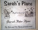 Donor recognition. Sarah's Place room sign.