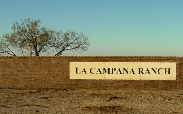 Stone sign for La Campana Ranch