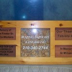 Wood paver display