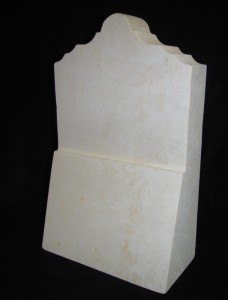 "TALL ALAMO AWARD. 5""W X 2.5""D X 8""H. $75.50 Sisterdale limestone award. Star is made from sandstone. Top has Alamo façade profile. Can be personalized with an engraving on the face of the base, with pricing beginning at $20.00"