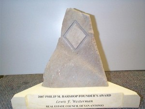 carved stone award
